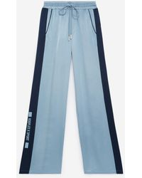 The Kooples Straight Flowing Blue Trousers With Elastic