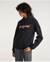 The Kooples Zwart Sweatshirt Met Zeefdruk 'what Is'