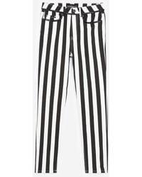 The Kooples Zwart-wit Gestreepte Skinny Jeans