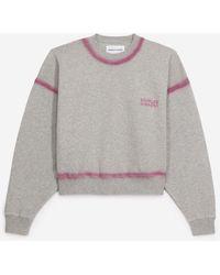 The Kooples Grijs Sweatshirt Met Verwassen Details