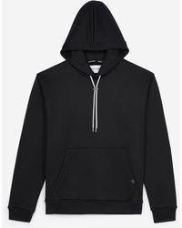 The Kooples Zwart/witte Sweater Met Capuchon En Print