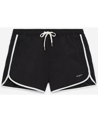 The Kooples Black Swim Shorts With White Bands