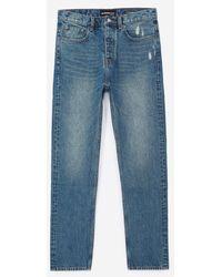 The Kooples Donkerblauwe Jeans Met Destroyed Details