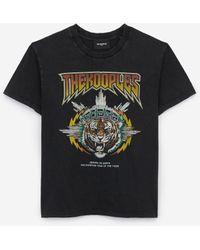 The Kooples Katoenen Rock T-shirt Met Tijgerzeefdruk - Meerkleurig