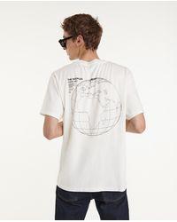 The Kooples Ecru Katoenen T-shirt Met Logo Op De Achterkant - Wit