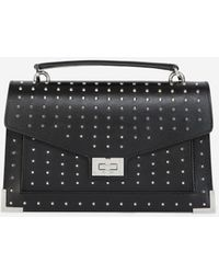 The Kooples Studded Medium Emily Bag In Smooth Leather - Black