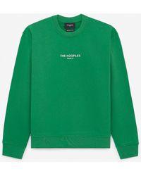 The Kooples Sweatshirt grün Logo Relief silber