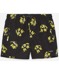 The Kooples Zwarte Zwemshort Met Gele Bloemen - Meerkleurig