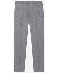 The Kooples Grijze Wollen Pantalon Met Motief - Grijs