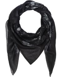 "The Kooples Scarf With ""microstars"" Print - Zwart"