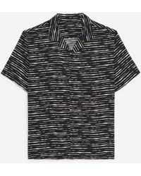 The Kooples Soepelvallend Hemd Met Zwart/wit Print