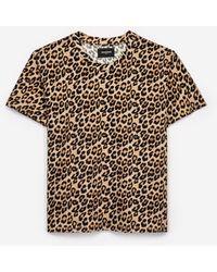 The Kooples Creatief Dames-t-shirt Met Luipaardprint - Meerkleurig