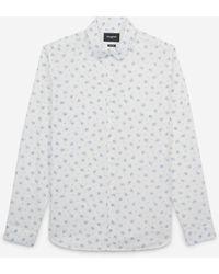 The Kooples Baumwollhemd weiß mit blauen Blumen - Mehrfarbig