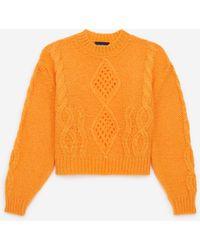 The Kooples Jersey mohair naranja clásico