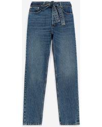 The Kooples Jeans blau verwaschen abnehmbarer Gürtel