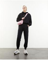 The Kooples Zwarte Sweater Met Capuchon En Kangoeroezak