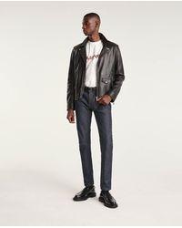 The Kooples Jean vintage bleu foncé brut slim