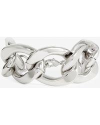 The Kooples Zilverkleurige Metalen Armband Grote Schakels - Meerkleurig