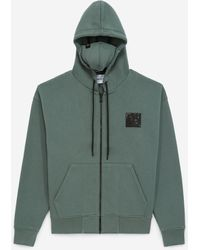 The Kooples Sudadera verde capucha mascarilla integrada