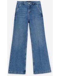 The Kooples Rechte Lichtblauwe Jeans Met Steekzakken