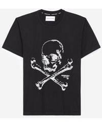 The Kooples Black T-shirt In Cotton With Skull