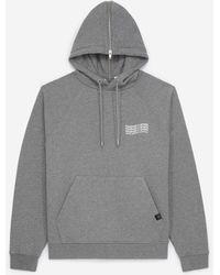 The Kooples Chiné Grijze Sweater Met Capuchon En Logo - Grijs