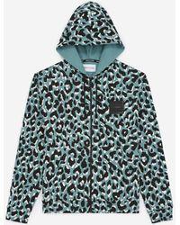 The Kooples Groen Sweatshirt Met Luipaardprint En Rits