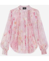 The Kooples Roze Blouse Met Print
