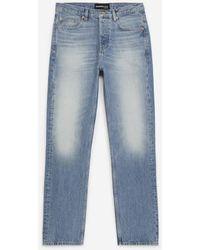 The Kooples Blauw Verwassen Jeans Rechte Pasvorm