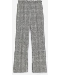 The Kooples Grijze Pantalon Met Prince-de-galles-print - Grijs