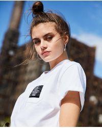 The Kooples Patch Loose White Cotton T-shirt - Multicolour