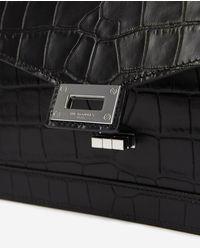 The Kooples Medium print croco Emily bag in black - Schwarz