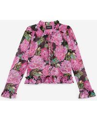 The Kooples Camisa volantes estampado floral - Multicolor