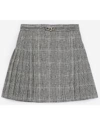 The Kooples Falda corta plisada lana gris