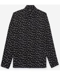 The Kooples Zwart Hemd Met Print Sterren