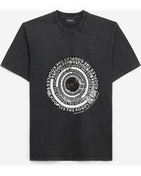 The Kooples Zwart Katoenen T-shirt Met Logo-schietschijf