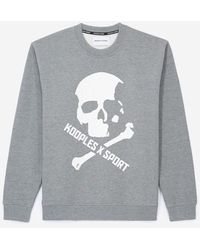 The Kooples Gray Sweatshirt With Skull Motif