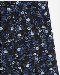 The Kooples Soepelvallende Blauwe Midirok Met Print
