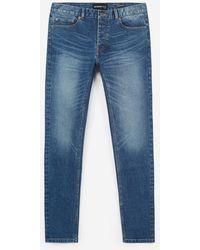 The Kooples Onbewerkte Blauwe Jeans Met Vijf Zakken
