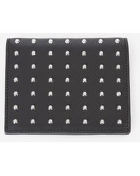 The Kooples - Black Leather Wallet With Studs - Lyst