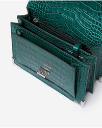The Kooples Mini Green Croco-effect Emily Bag