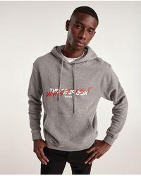 The Kooples Grijze Katoenen Sweater Met Capuchon En Print - Grijs