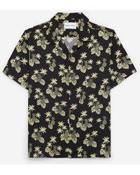 The Kooples Zwart Hemd Met Ananasprint