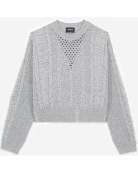 The Kooples Grauer Pullover aus Kaschmirwolle