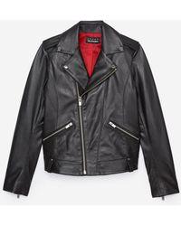 The Kooples Black Lambskin Leather Jacket