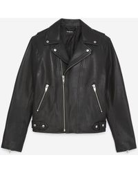 The Kooples Padded Black Leather Jacket