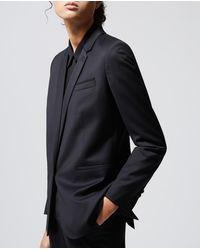 The Kooples Schwarze elegante Jacke aus Wolle