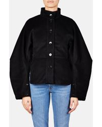 Lemaire - Round Sleeve Cinched Jacket - Black - Lyst