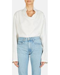 Lemaire - Wide Neck Pullover Shirt - Lyst