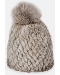 Pologeorgis - Knitted Mink Beanie - Lyst